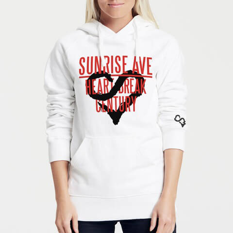 √Heartbreak Century Logo von Sunrise Avenue - Girlie hooded sweater jetzt im Bravado Shop