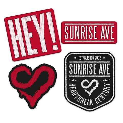 Hey! von Sunrise Avenue - Patch - Set jetzt im Bravado Shop