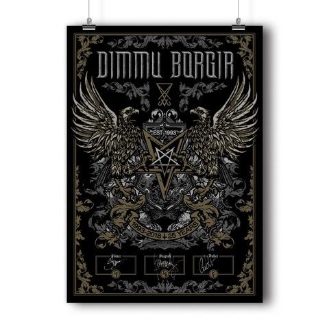 √25 Years von Dimmu Borgir - Screen Print Poster jetzt im Bravado Shop