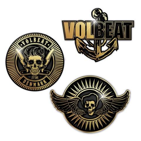 √Anchor And Skulls von Volbeat - 3er Pin Set jetzt im Bravado Shop