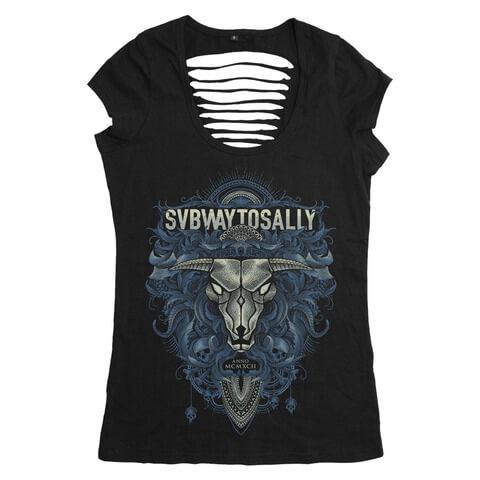 √Floral Bull von Subway To Sally - Girlie Shirt jetzt im Bravado Shop