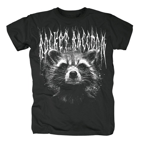 Black Metal Rocket von Guardians of the Galaxy - T-Shirt jetzt im Bravado Shop