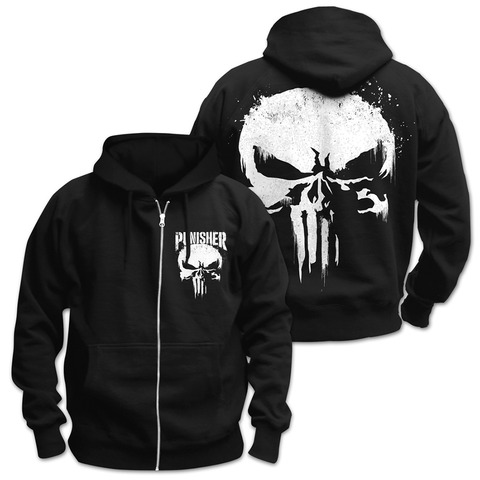 √Sprayed Skull Logo von The Punisher - Hooded jacket jetzt im Bravado Shop