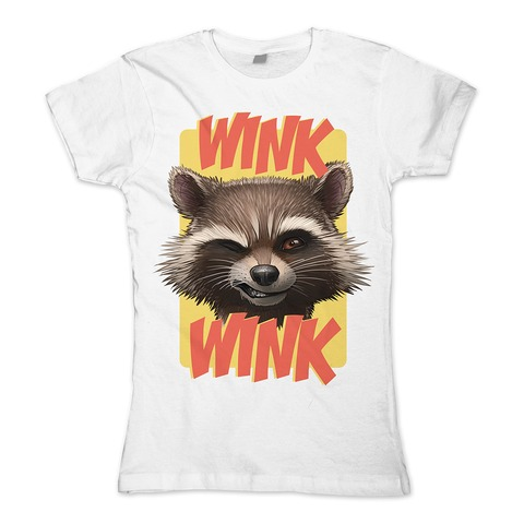 √Rocket Wink Wink von Guardians of the Galaxy - Girlie Shirt jetzt im Bravado Shop