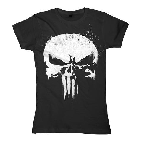 √Sprayed Skull Logo von The Punisher - Girlie Shirt jetzt im Bravado Shop