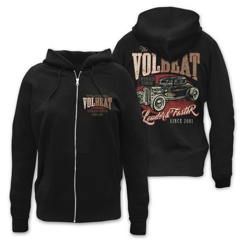 √Louder & Faster von Volbeat - Girlie hooded jacket jetzt im Bravado Shop