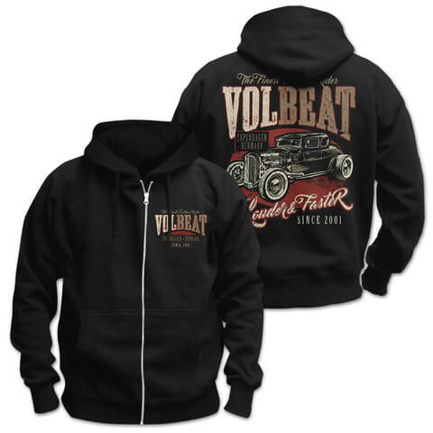 √Louder & Faster von Volbeat - Hooded jacket jetzt im Bravado Shop