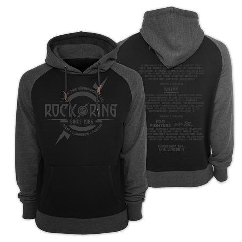 √Dark Grey Logo von Rock am Ring Festival - Kapuzenpullover 2 Tone jetzt im Bravado Shop