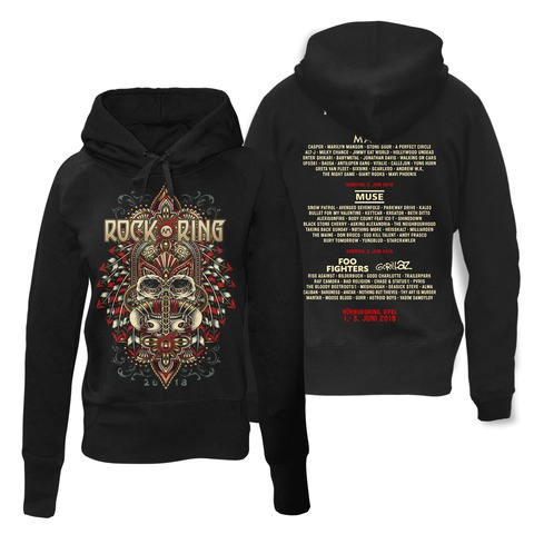 √Rock Headdress von Rock am Ring Festival - Girlie hooded sweater jetzt im Bravado Shop