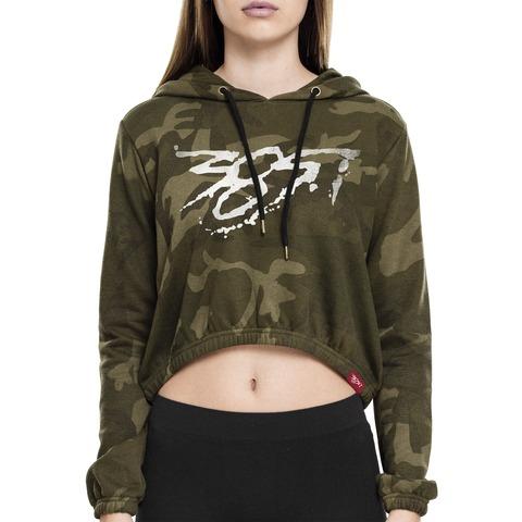 √385i Ladies Camo Short Hoody von 385idéal - Hood sweater jetzt im Bravado Shop