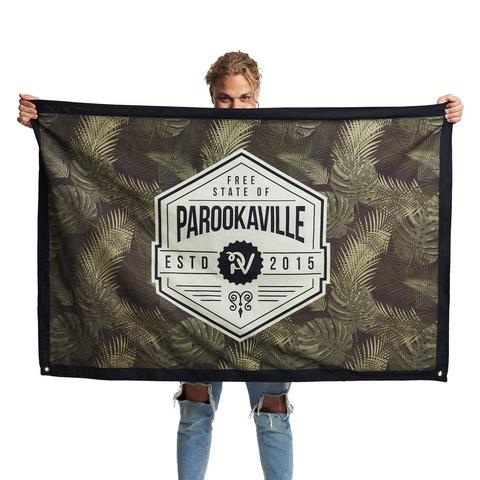 √Palm Vibez & AO Stripes von ParookaVille Festival - Wendeflagge jetzt im Bravado Shop