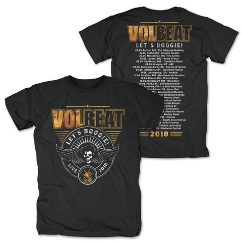 √Lets Boogie 2018 von Volbeat - T-Shirt jetzt im Bravado Shop