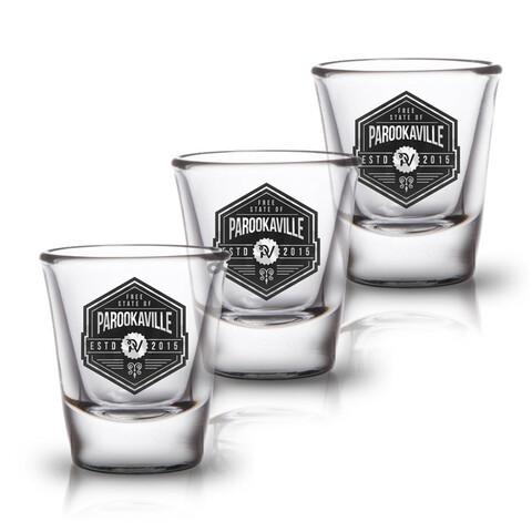 √Free State of von Parookaville Festival - 3er Set Shot Glas jetzt im Bravado Shop