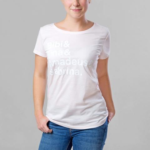 √B&T Candy Pink / Print weiß von Bibi & Tina - Women Shirt jetzt im Bravado Shop