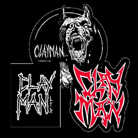 √Clayman Patch Set von Clayman Limited - 3er Aufnäher Set jetzt im Bravado Shop