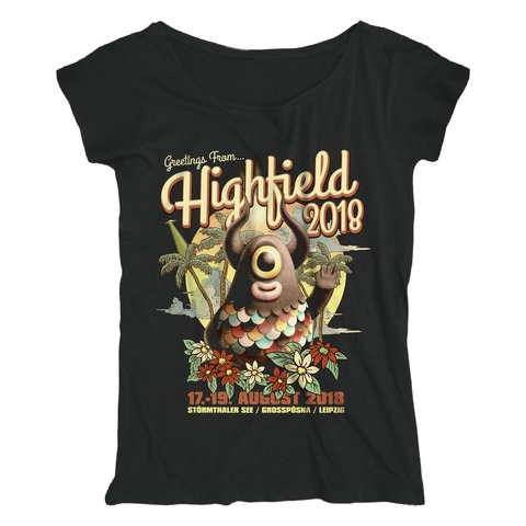 √Greetings From... von Highfield Festival - Girlie Shirt Loose Fit jetzt im Bravado Shop