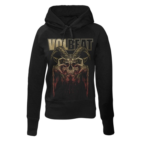 √Bleeding Crown Skull von Volbeat - Girlie hooded sweater jetzt im Bravado Shop