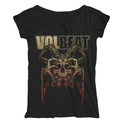 √Bleeding Crown Skull von Volbeat - Girlie Shirt Loose Fit jetzt im Bravado Shop