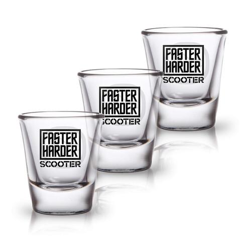 √Faster Harder Scooter von Scooter - 3er Set Shot Glas jetzt im Bravado Shop