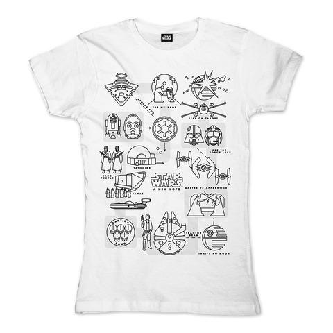 A New Hope Pictogram von Star Wars - Girlie Shirt jetzt im Bravado Shop