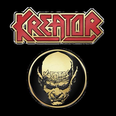 √Skull n Logo von Kreator - 2er Pin Set jetzt im Bravado Shop