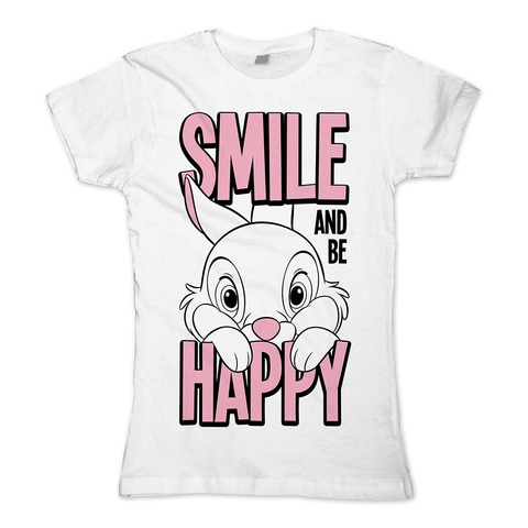 √Bambi - Smile and Be Happy von Disney - Girlie Shirt jetzt im Bravado Shop