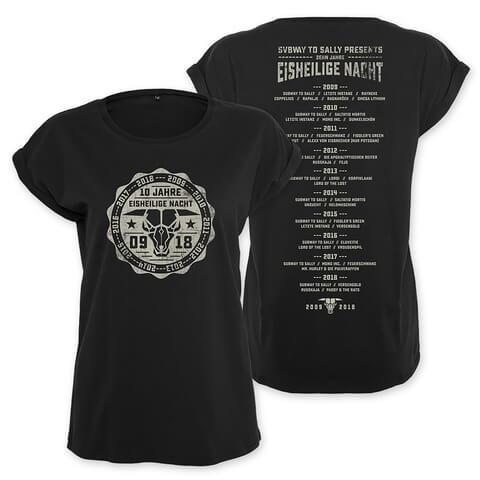 √10 Jahre Eisheilige Nacht von Subway To Sally - Girlie Shirt jetzt im Bravado Shop
