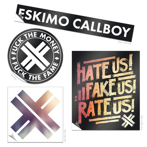 √Logo Sticker Set von Eskimo Callboy - 4er Sticker Set jetzt im Bravado Shop