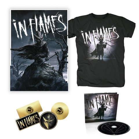 √I am the Mask - Bundle von In Flames - CD, Pin-Set, Poster, T-Shirt jetzt im Bravado Shop