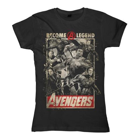 √Become A Legend von Avengers - Girlie Shirt jetzt im Bravado Shop