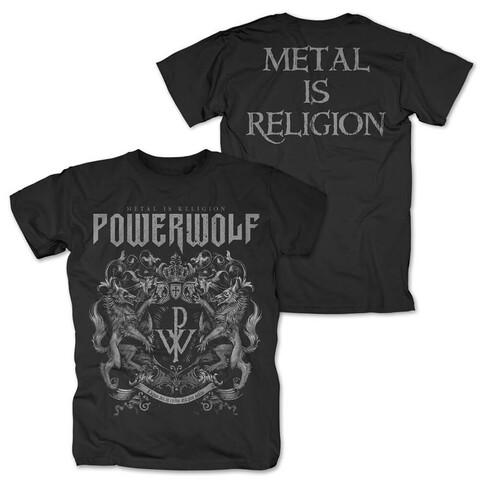 √Crest - Metal Is Religion von Powerwolf - T-Shirt jetzt im Bravado Shop