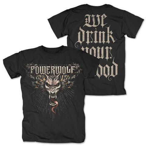 √Dracul Wolf von Powerwolf - T-Shirt jetzt im Bravado Shop