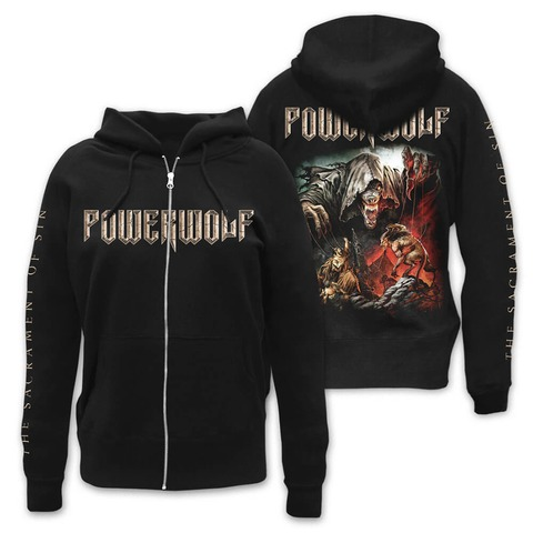 √The Sacrament Of Sin von Powerwolf - Girlie hooded jacket jetzt im Bravado Shop