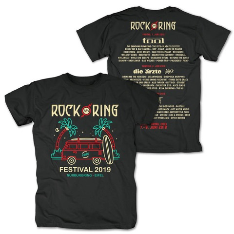 √Palms and Camper von Rock am Ring Festival - T-Shirt jetzt im Bravado Shop