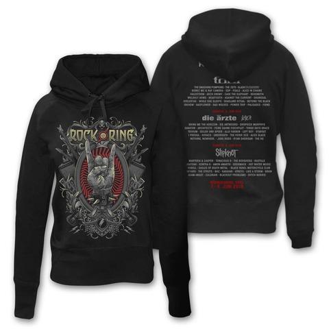 √Rock Crest von Rock am Ring Festival - Girlie hooded sweater jetzt im Bravado Shop