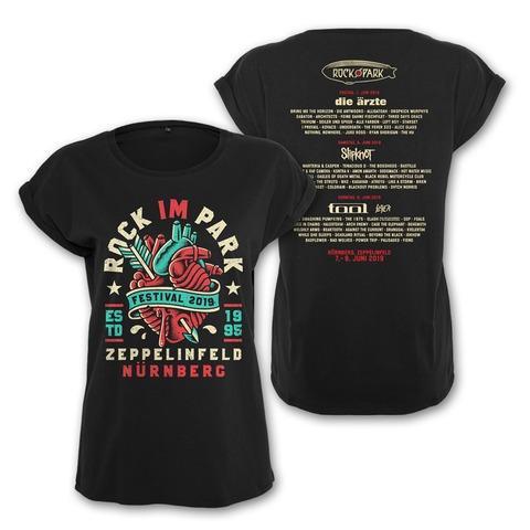√Heartbreaker von Rock im Park Festival - Girlie Shirt Roll Up Sleeves jetzt im Bravado Shop