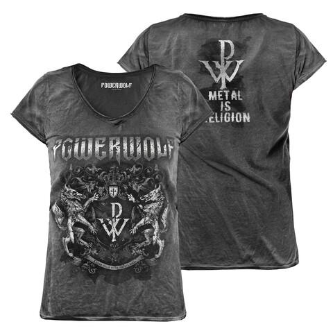 √Metal Is Religion - Crest von Powerwolf - Girlie Shirt jetzt im Bravado Shop