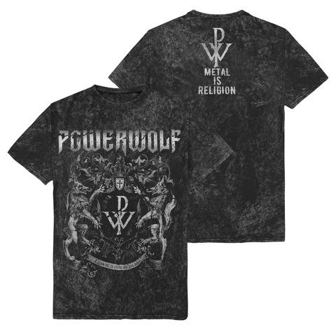 √Metal Is Religion - Crest von Powerwolf - T-Shirt jetzt im Bravado Shop