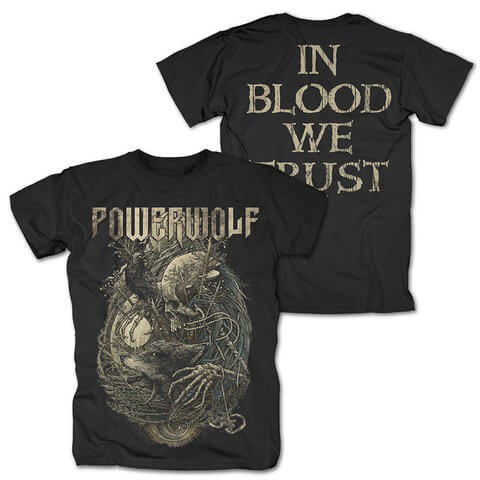 √In Blood We Trust von Powerwolf - T-Shirt jetzt im Bravado Shop
