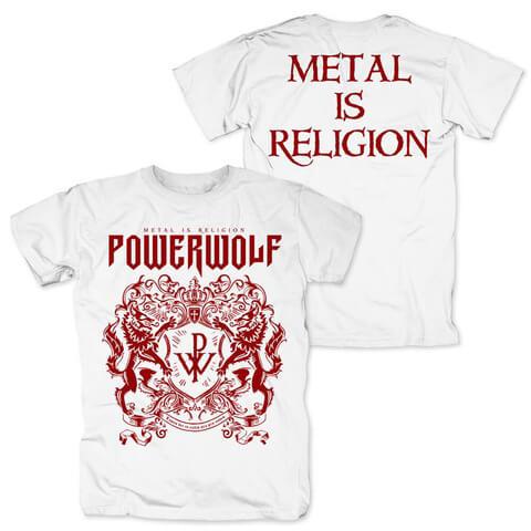 √Red Crest White Tee von Powerwolf - T-Shirt Long jetzt im Bravado Shop
