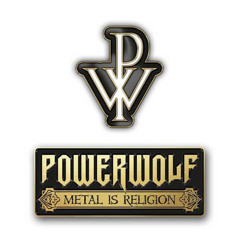 √Logo Pin Set von Powerwolf - 2er Pin Set jetzt im Bravado Shop