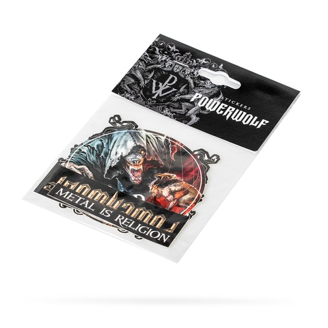 √Sacrament Of Sin Sticker Set von Powerwolf - 4er Sticker Set jetzt im Bravado Shop