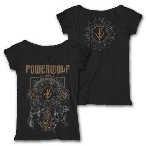 √Wolf Cross von Powerwolf - Girlie Shirt Loose Fit jetzt im Bravado Shop