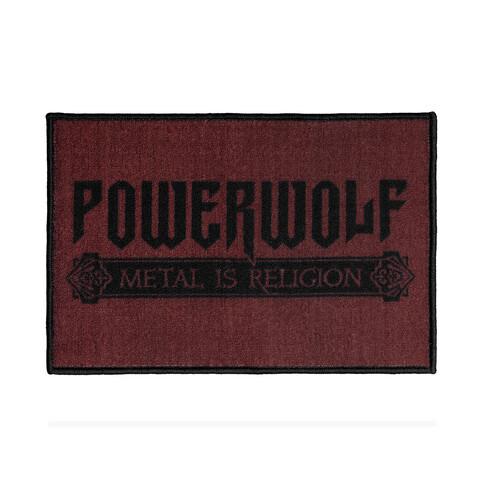 √Powerwolf Logo von Powerwolf - Floor mat jetzt im Bravado Shop