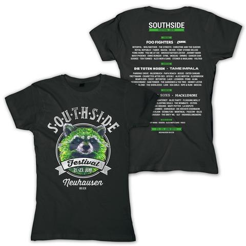 √Vintage Racoon von Southside Festival - Girlie Shirt jetzt im Bravado Shop