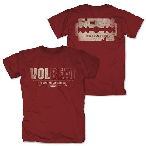 √Distressed Logo - red von Volbeat - T-Shirt jetzt im Bravado Shop