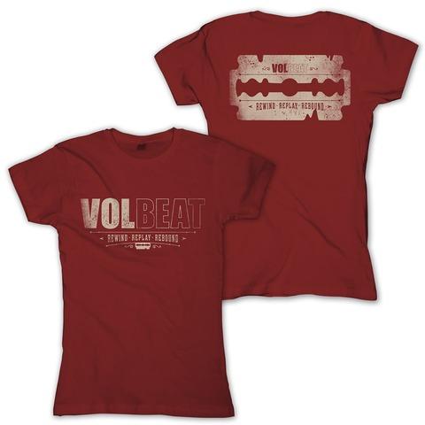 √Distressed Logo - red von Volbeat - Girlie Shirt jetzt im Bravado Shop