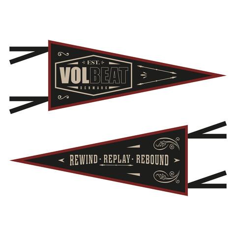 √Rewind Replay Rebound von Volbeat - Wimpel jetzt im Bravado Shop