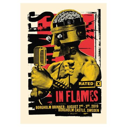 √Check The Mic Rated X von In Flames - Siebdruckposter jetzt im Bravado Shop