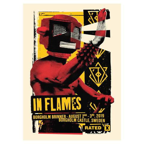 Eye Beam Rated X von In Flames - Siebdruckposter jetzt im Bravado Shop